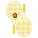 Kit de tennis Colour Pro avec champ publicitaire, raquettes de plage ou beach tennis publicitaire