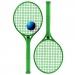 Kit de tennis Family, raquettes de plage ou beach tennis publicitaire