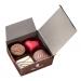 Mini ballotin 4 chocolats assortis emballé papier  rouge avec ruban. cadeau d'entreprise