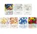 Petit sachet de bonbons avec carte imprimée, bonbon à la menthe publicitaire