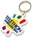 Porte-clés en pvc souple 3d en relief - toucher gomme