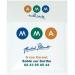 Porte-vignette assurance adhésif quadri, pochette porte-vignette d'assurance publicitaire
