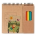 Set de coloriage avec bloc cadeau d'entreprise