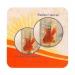 Sous-bock carré quadri / sous-verre en carton absorbant, sous-verre et sous-bock publicitaire