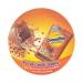 Sous-bock rond quadri / sous-verre en carton absorbant, sous-verre et sous-bock publicitaire