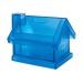 Tirelire maison plastique, tirelire publicitaire