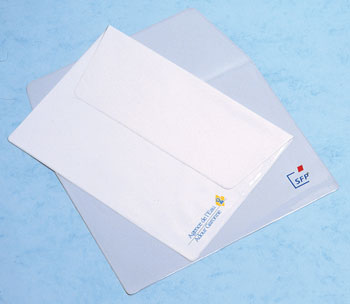 Pochettes plastique protège documents publicitaire