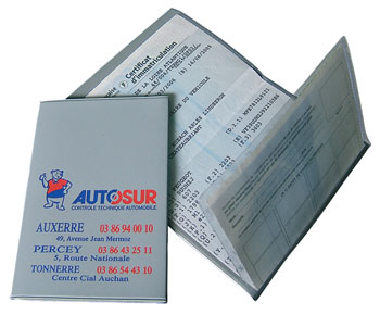 étuis et pochettes carte grise et papiers de voiture personnalisable