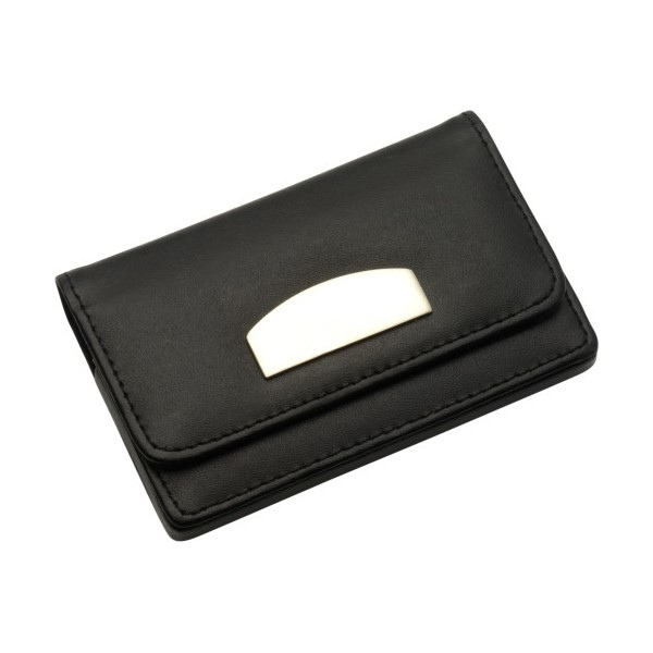 Porte cartes de visite publicitaire en cuir 00028v0010545 partir de 2 67 euros ht - Porte carte de visite cuir ...