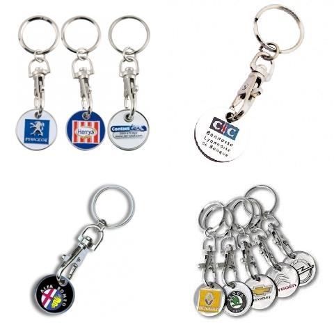Porte-clés jetons personnalisé