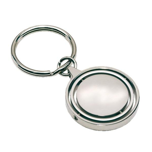 Porte cl s m tallique terra argent personnalisable for Porte metallique