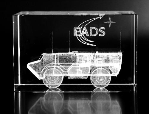 Blocs de verre presse-papiers avec gravure 3D avec marquage