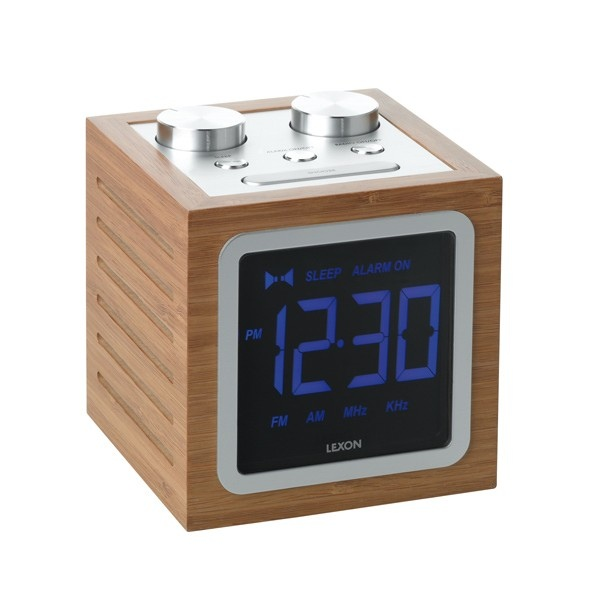 radio r veil dolmen lcd clock personnalisable. Black Bedroom Furniture Sets. Home Design Ideas