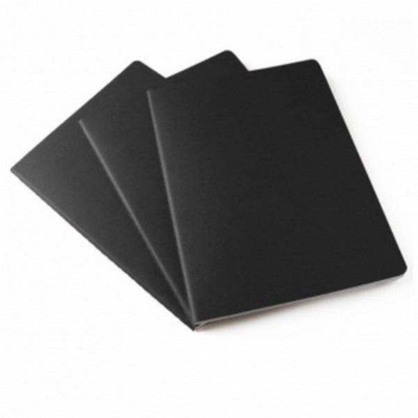 set de 3 cahiers grand format noir lign personnalisable 00005v0104686 partir de 3 38 euros ht. Black Bedroom Furniture Sets. Home Design Ideas