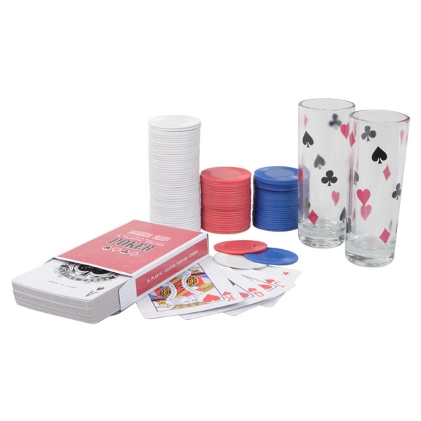 Set de poker all in drink cadeau publicitaire en vente au prix grossiste Set de table publicitaire prix
