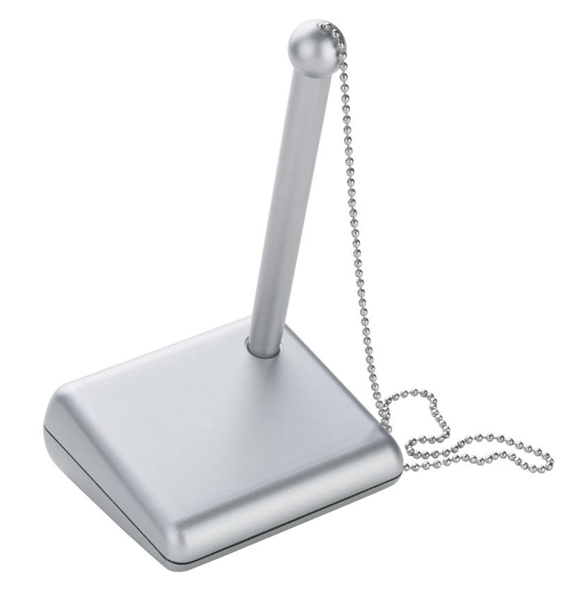 stylo sur socle avec chainette personnalisé