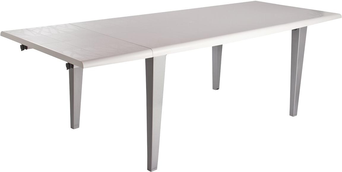 Table de jardin ronde en resine blanche 13 table - Table jardin blanche lille ...