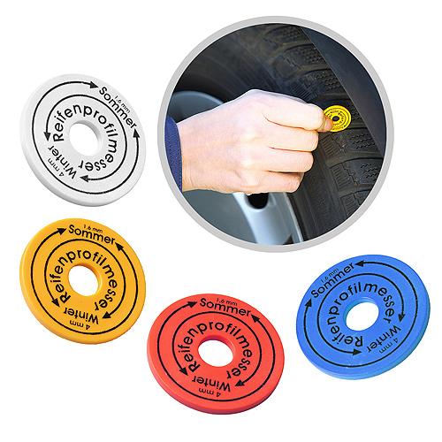 testeur d 39 usure de pneu jeton personnalisable 01313v0111043 partir de 0 27 euros ht. Black Bedroom Furniture Sets. Home Design Ideas