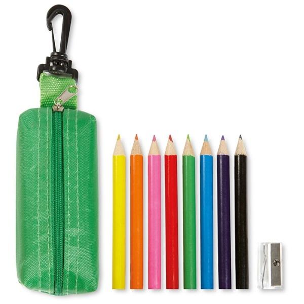 trousse avec 8 crayons de couleur publicitaires et taille crayon 00010v0095553 partir de 1. Black Bedroom Furniture Sets. Home Design Ideas