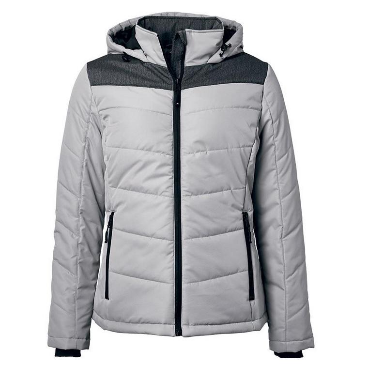 Veste publicitaire femme matelassée à capuche, vente veste