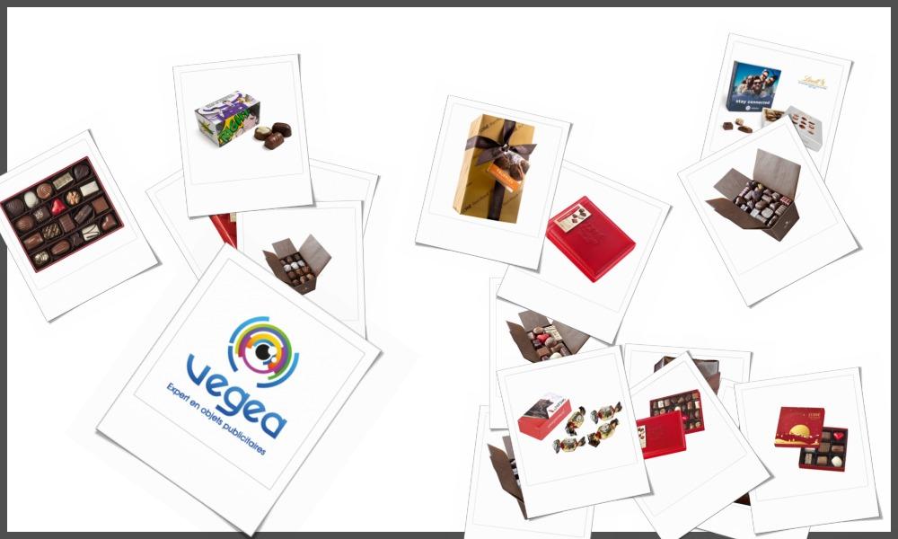 Ballotins et boîtes de chocolats personnalisables à votre effigie avec un logo, un texte ou une image | Grossiste et fabrication d'objets publicitaires et cadeaux d'entreprise
