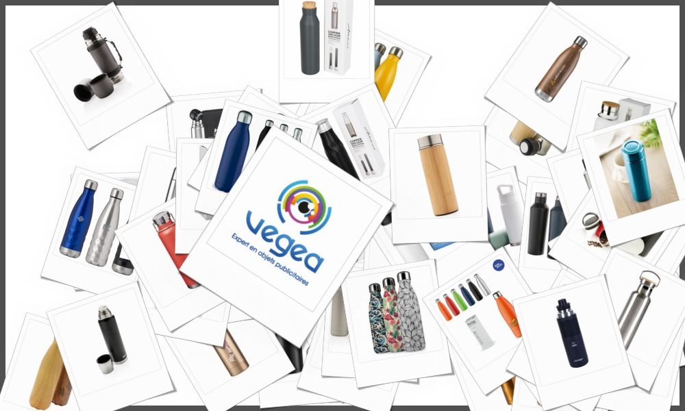 Bouteilles isothermes personnalisables à votre effigie avec un logo, un texte ou une image   Grossiste et fabrication d'objets publicitaires et cadeaux d'entreprise