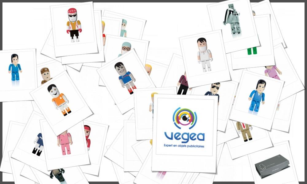 Clés usb personnages, bonshommes et figurines personnalisables à votre effigie avec un logo, un texte ou une image