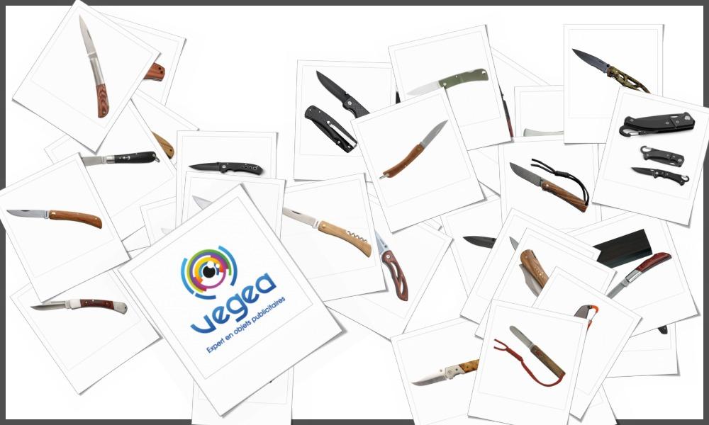Couteaux canifs personnalisables à votre effigie avec un logo, un texte ou une image | Grossiste et fabrication d'objets publicitaires et cadeaux d'entreprise
