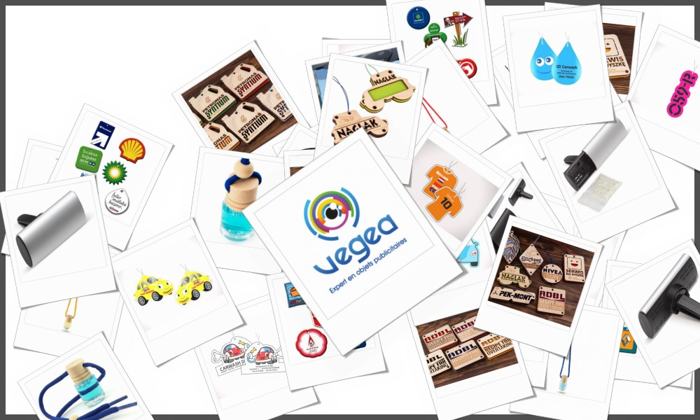 Désodorisants de voiture / sentorettes personnalisables à votre effigie avec un logo, un texte ou une image | Grossiste et fabrication d'objets publicitaires et cadeaux d'entreprise
