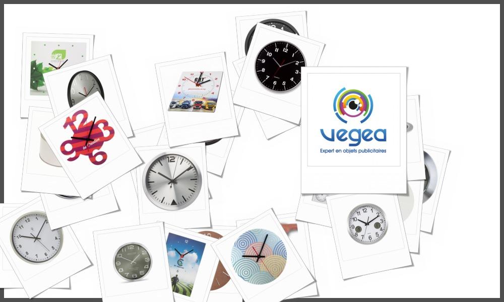 Horloges et pendules murales personnalisables à votre effigie avec un logo, un texte ou une image | Grossiste et fabrication d'objets publicitaires et cadeaux d'entreprise