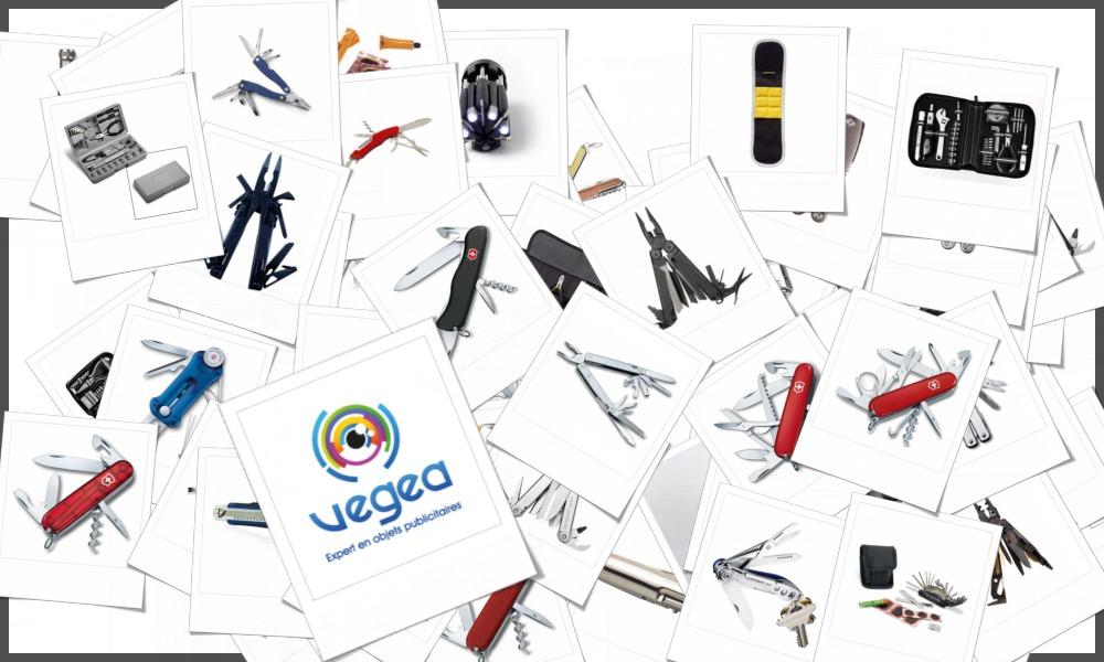 Sélection d'outils personnalisables à votre effigie avec un logo ou un texte