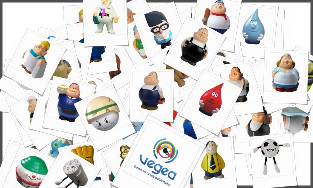 Personnages et mascottes anti-stress personnalisables à votre effigie avec un logo, un texte ou une image | Grossiste et fabrication d'objets publicitaires et cadeaux d'entreprise