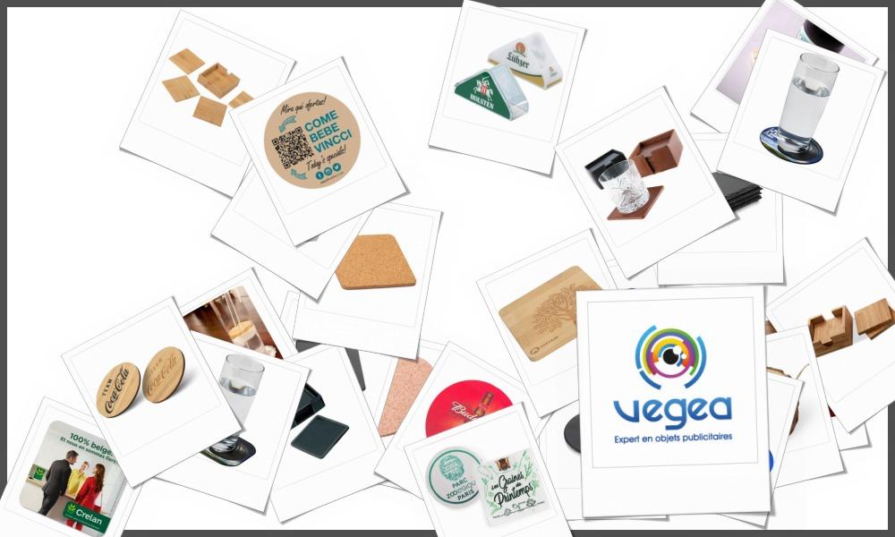 Sous-verres et sous-bocks personnalisables à votre effigie avec un logo, un texte ou une image | Grossiste et fabrication d'objets publicitaires et cadeaux d'entreprise