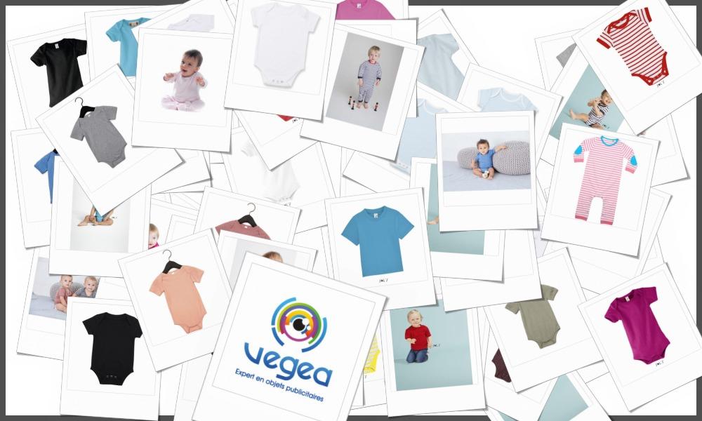Tee-shirts bébé et body bébé personnalisables à votre effigie avec un logo, un texte ou une image | Grossiste et fabrication d'objets publicitaires et cadeaux d'entreprise