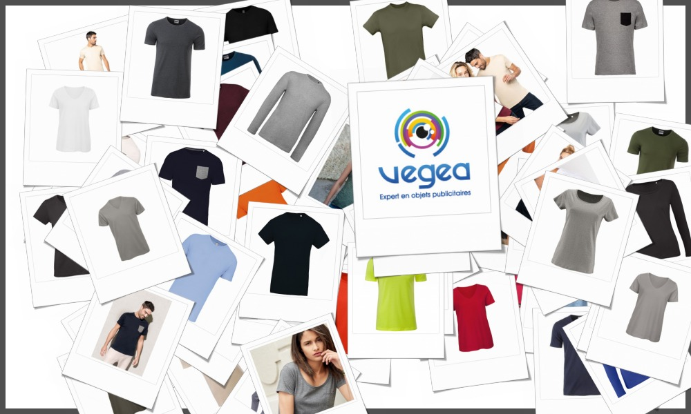 Tee-shirts en coton bio personnalisables à votre effigie avec un logo, un texte ou une image   Grossiste et fabrication d'objets publicitaires et cadeaux d'entreprise