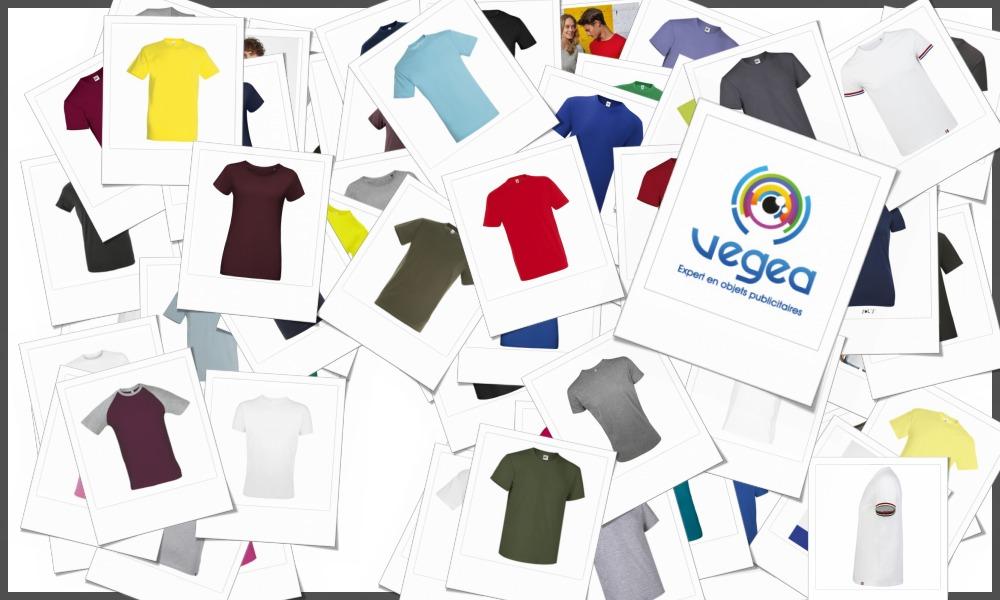 Tee-shirts manches courtes personnalisables à votre effigie avec un logo, un texte ou une image | Grossiste et fabrication d'objets publicitaires et cadeaux d'entreprise
