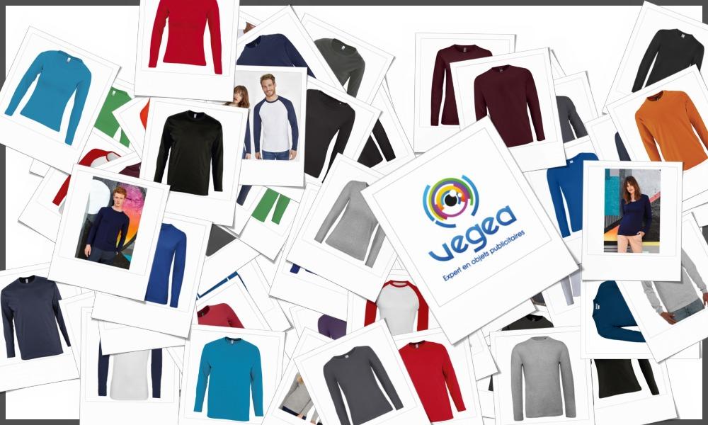 Tee-shirts manches longues personnalisables à votre effigie avec un logo, un texte ou une image   Grossiste et fabrication d'objets publicitaires et cadeaux d'entreprise