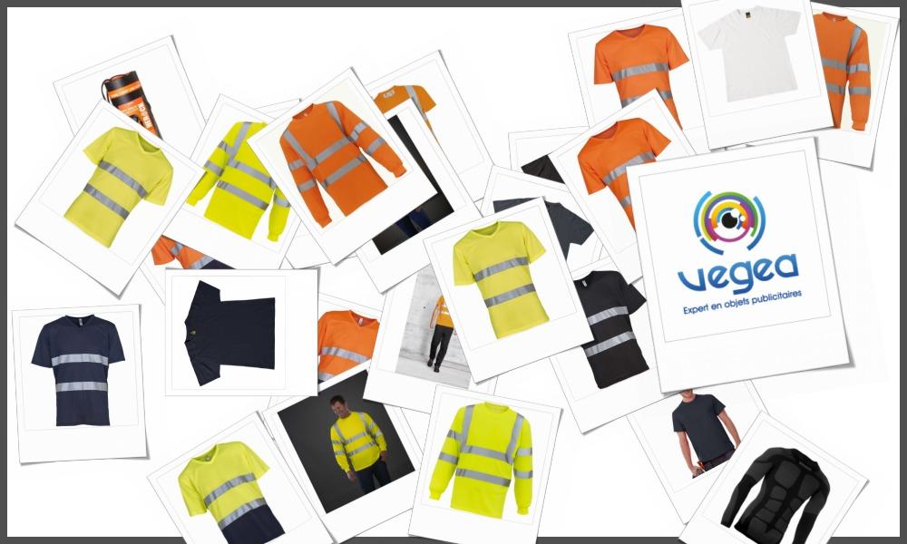 Tee-shirts professionnels ou tee-shirts de travail personnalisables à votre effigie avec un logo, un texte ou une image | Grossiste et fabrication d'objets publicitaires et cadeaux d'entreprise