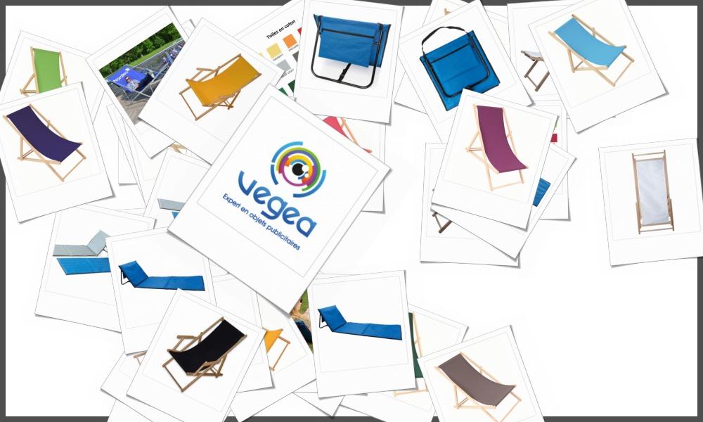 Transats personnalisables à votre effigie avec un logo, un texte ou une image | Grossiste et fabrication d'objets publicitaires et cadeaux d'entreprise