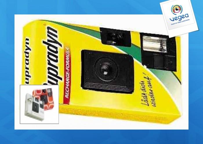 Appareil photo jetable personnalisable 12 poses avec flash