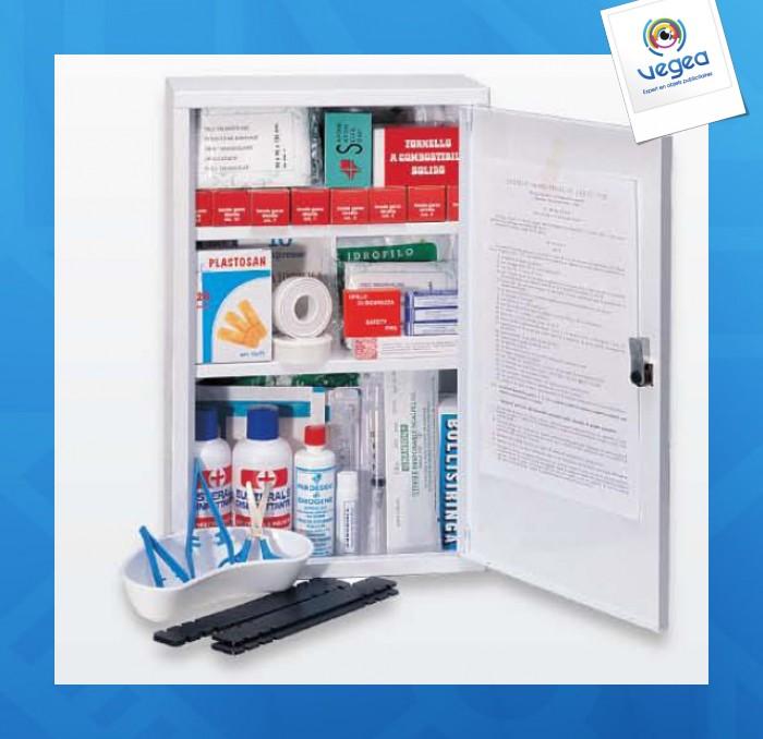 Armoire à pharmacie personnalisée 1 porte petit modèle (garnie)