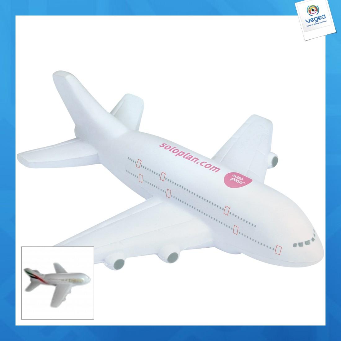 Avion personnalisable 01377v0040178 partir de 5 55 euros ht - Objet anti stress bureau ...