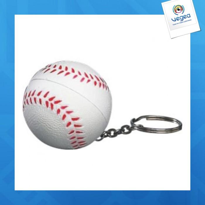 Balle de base ball porte cl s personnalisable 01377v0040194 partir de 0 78 euros ht - Objet anti stress bureau ...