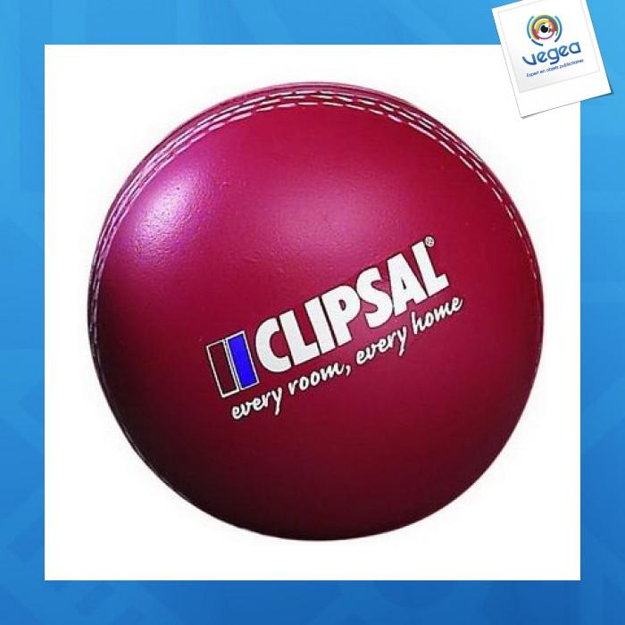 Balle de cricket personnalisable 01377v0040195 partir de 1 44 euros ht - Objet anti stress bureau ...