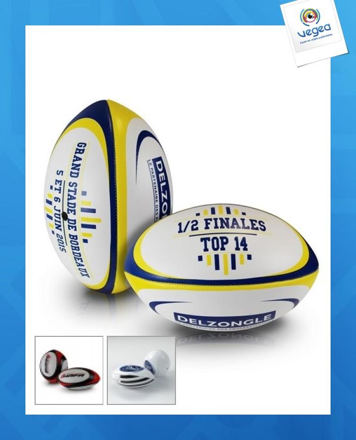 Ballon de rugby publicitaire personnalisé  promotionnel