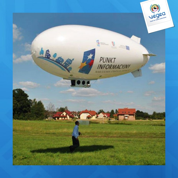 Ballon dirigeable logoté 10m
