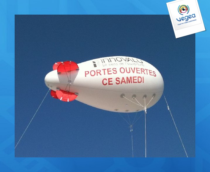 Ballon dirigeable personnalisable 3m