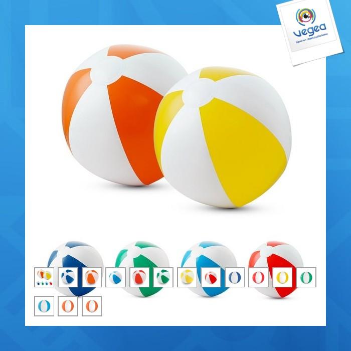 Ballon gonflable bicolore 21cm