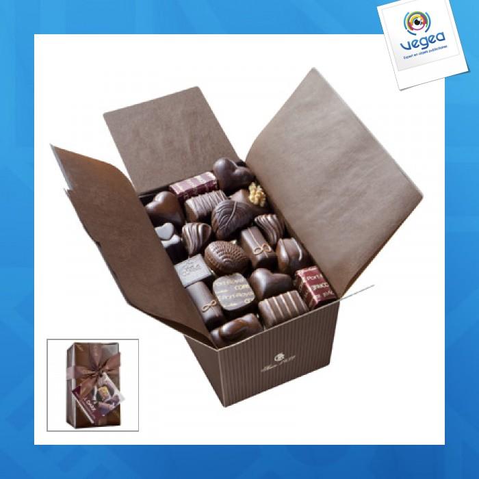 Ballotin 18 chocolats noirs