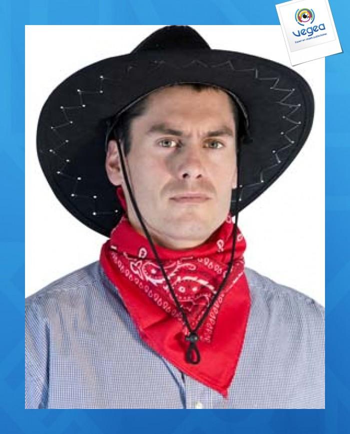 Bandana western rouge 55 x 55 cm environ